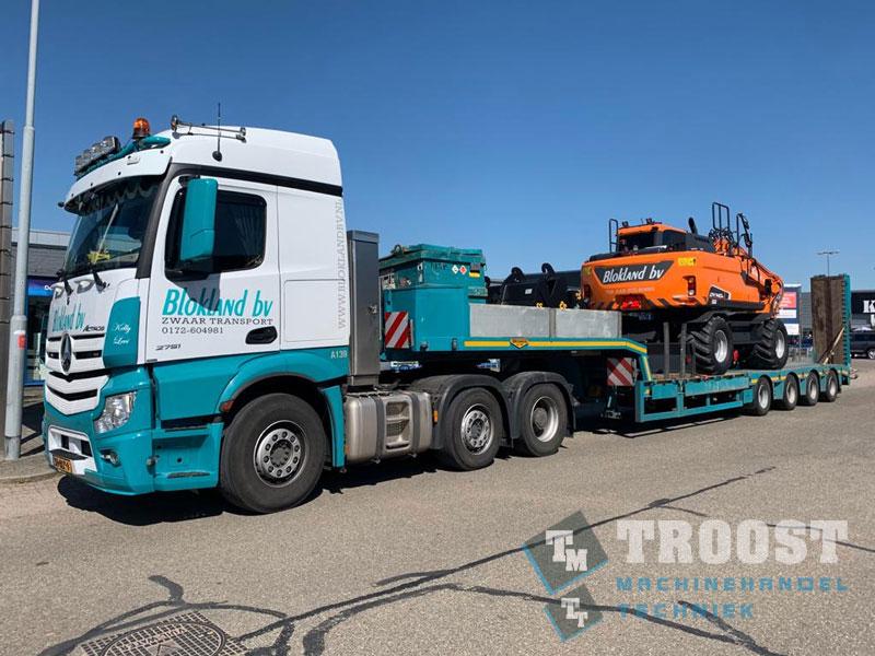 Nieuwe Doosan DX140-W Transport Blokland